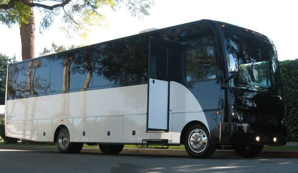 Limousine Party Bus in White picture