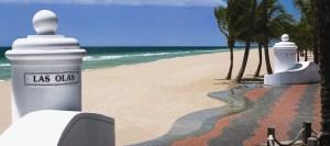 limo in Las Olas beach Ft Lauderdale