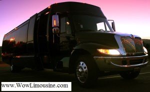 wow limousine party bus