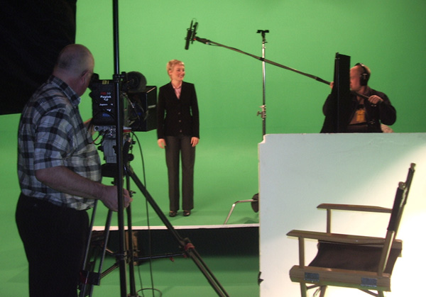 filming at Fleetwood Films Studio near Basingstoke