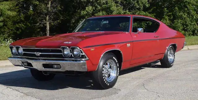 A Red 1969 Chevelle Malibu SS 396