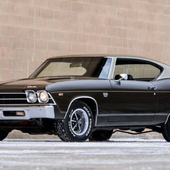 Front Left of a 1969 Chevelle SS 396 Black