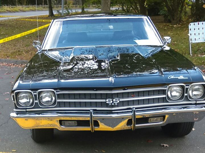Black 1969 Chevelle SS 396 Front