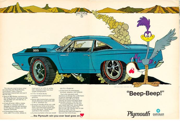 1969 Plymouth Road Runner Advertisement