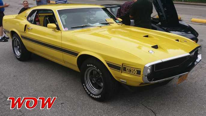 Yellow 1969 Shelby GT350 Front Right Side