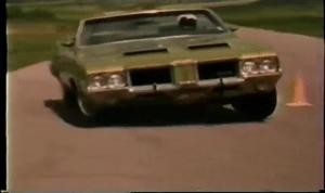 1971 Oldsmobile 442 Convertible W30 Runs the Pylon Course