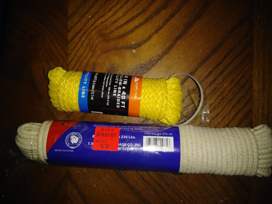 regular rope and the rope we used