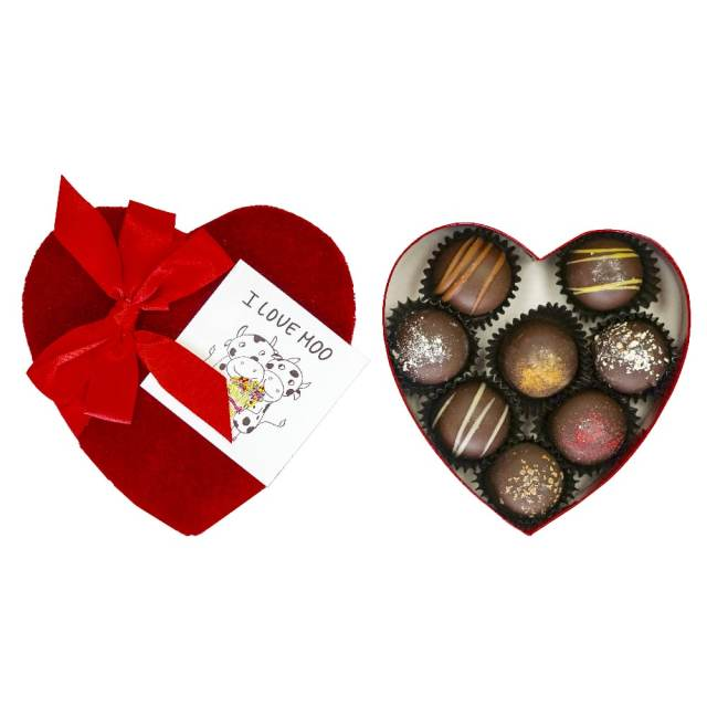 box of Vegan Valentine's truffles