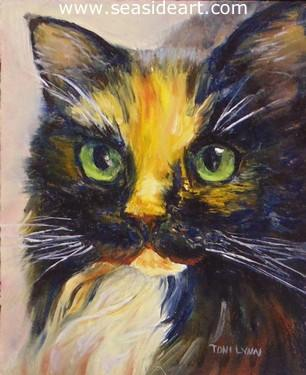 cat painting from Animals in Art Show