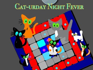 Single image from Saturday Night Fever dancing cat gif