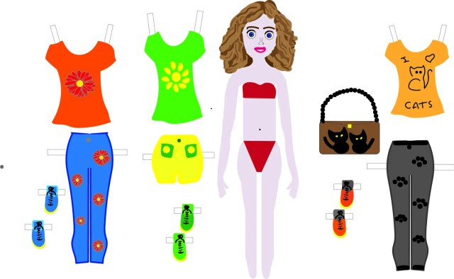paper doll girl withoutfits