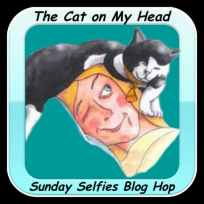 The Cat on My Head Sunday Selfies Blog Badge