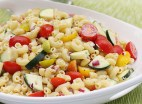 Summer Macaroni Salad | http://www.skinnytaste.com/2012/06/summer-macaroni-salad-with-tomatoes-and.html