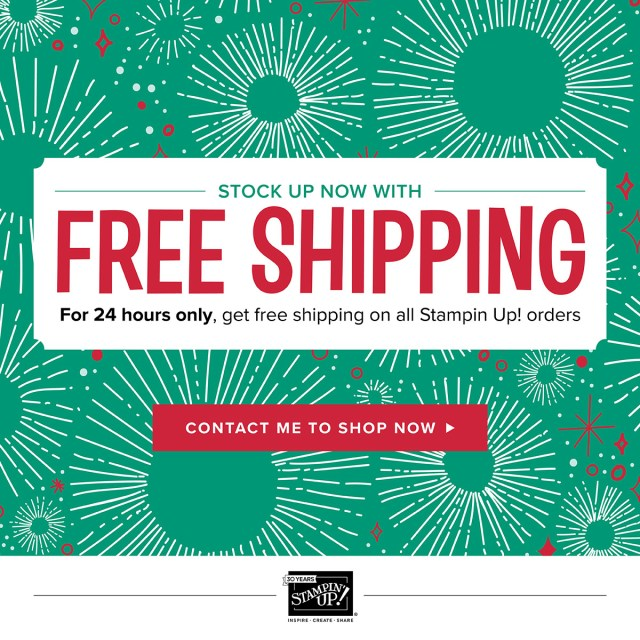 free shipping, offer, promotion, shop, Stampin up