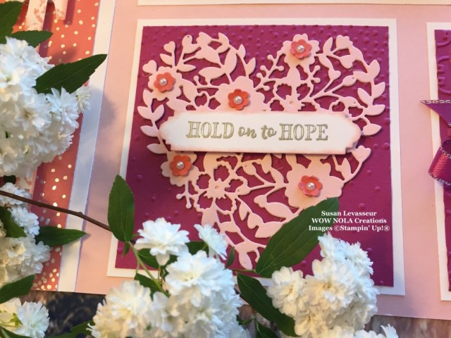 Susan Levasseur, WOW NOLA Creations, Stampin' Up!, Faith Sampler