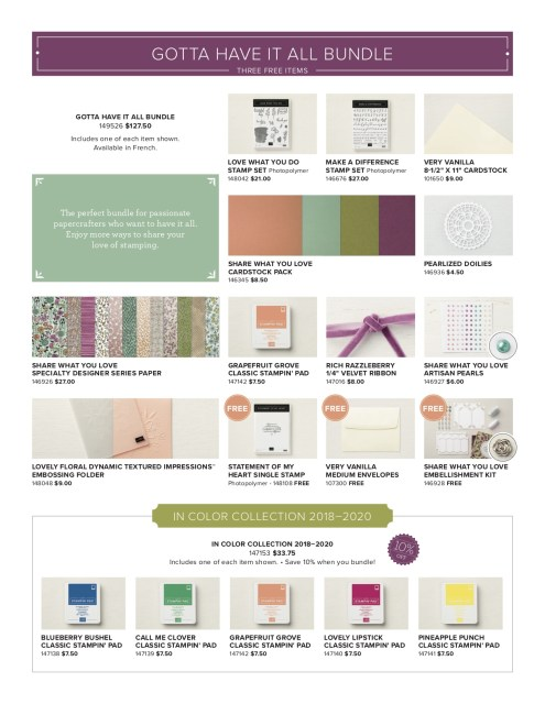 Susan Levasseur, WOW NOLA Creations, Stampin' Up! Annual Catalog, Early Release