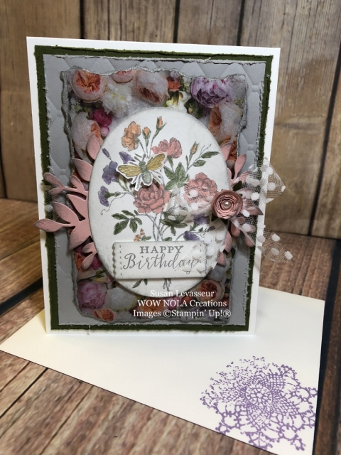 Susan Levasseur, WOW NOLA Creations, Very Vintage Birthday Card
