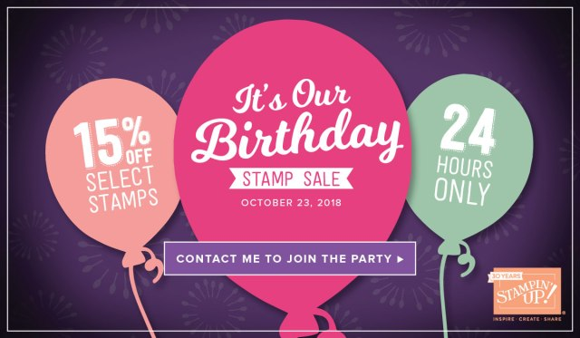 Susan Levasseur, WOW NOLA Creations, 24-Hour Birthday Sale, Stampin' Up!