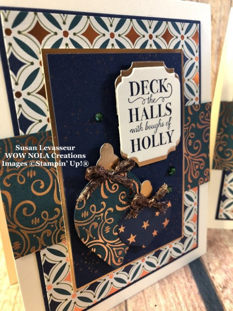 Deck the Halls Christmas Card, Susan Levasseur, WOW NOLA Creations, Stampin' Up!