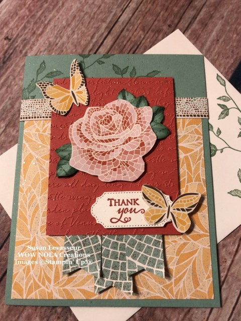 Mosaic Mood with WOW Card Sketch #2, Susan Levasseur, WOW NOLA Creations, Stampin' Up!