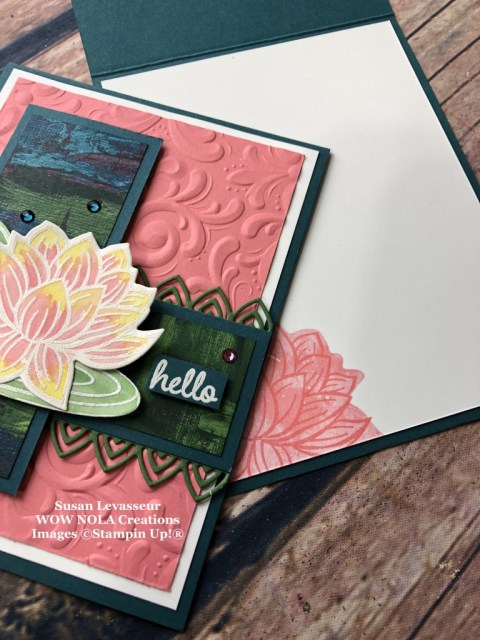 Lovely Lily Pad, Susan Levasseur, WOW NOLA Creations, Stampin' Up!