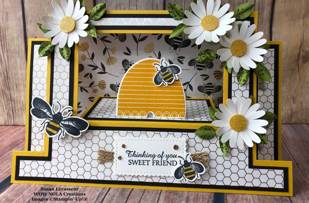 Honey Bee Scene Stepper Card