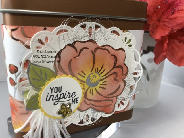 Copper Tea Tins, Susan Levasseur, WOW NOLA Creations, Stampin' Up!