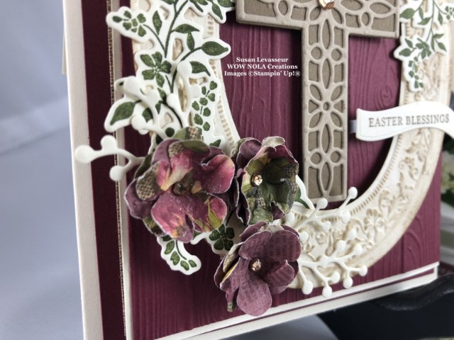 Easter Vintage Fancy Fold, Susan Levasseur, WOW NOLA Creations, Stampin' Up!