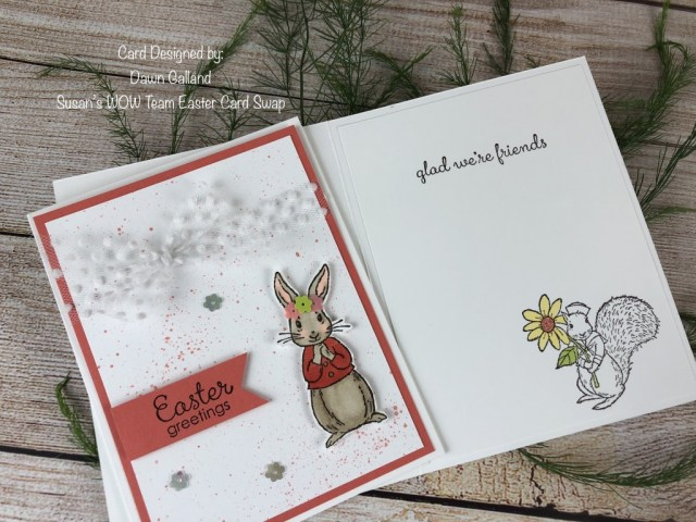 Dawn Galland, Susan's WOW Team Easter Card Swap