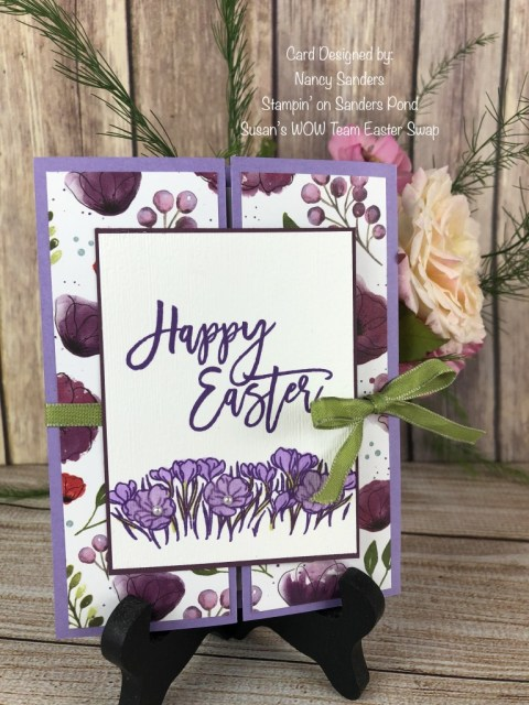 Nancy Sanders, Stampin' on Sanders Pond, Susan's WOW Team Easter Card Swap