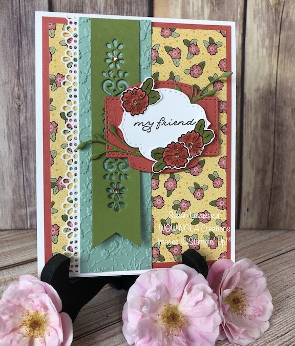 Friendship Card with Ornate Garden Suite