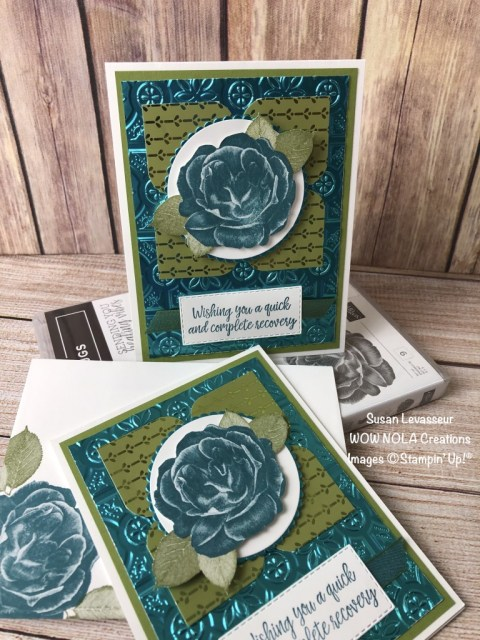 Healing Hugs Get Well, Susan Levasseur, WOW NOLA Creations, Stampin' Up!