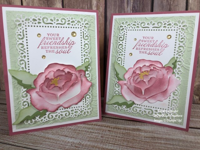 Prized Peony Friendship Card, Susan Levasseur, WOW NOLA Creations, Stampin' Up!