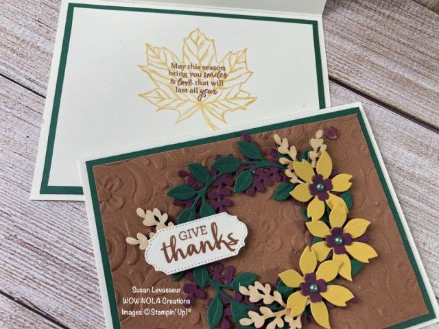 Give Thanks Wreath, Arrange a Wreath, Susan Levasseur, WOW NOLA Creations, Stampin' Up!