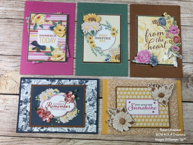 For Every Season Cards, Susan Levasseur, WOW NOLA Creations, Stampin' Up!