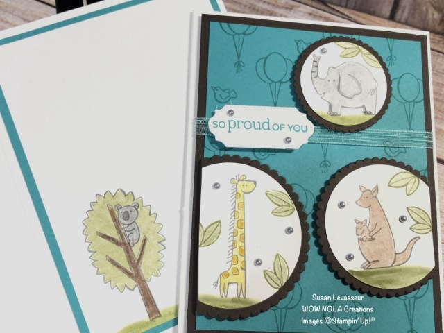 Zoo Globe Trio, Susan Levasseur, WOW NOLA Creations, Stampin' Up!