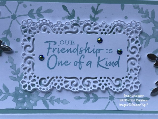Slimline Card Fold, Snowflake Wishes, Susan Levasseur, WOW NOLA Creations, Stampin' Up!