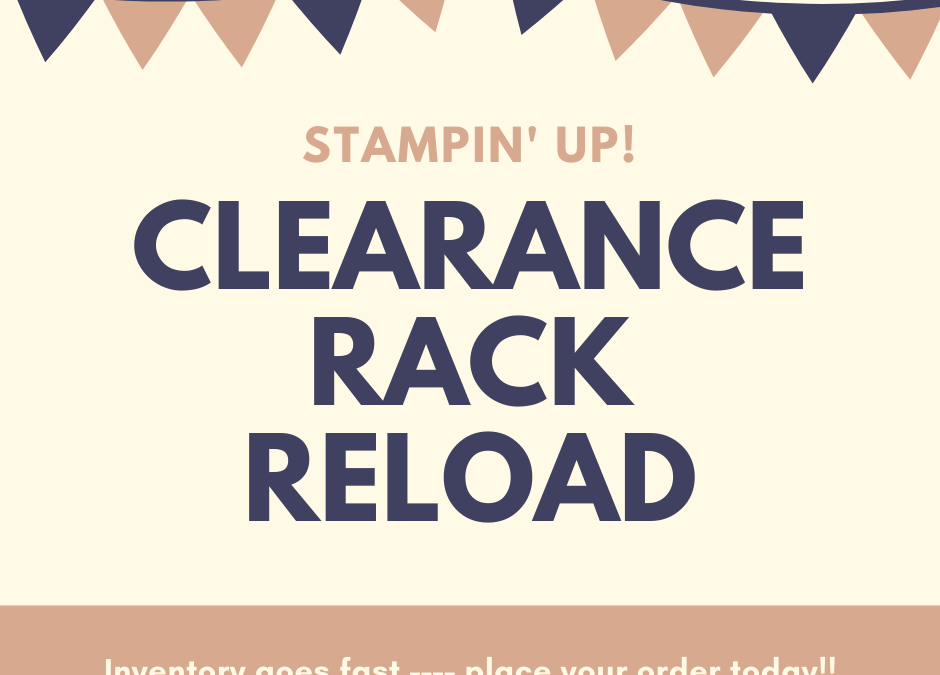 Clearance Rack Reload!!