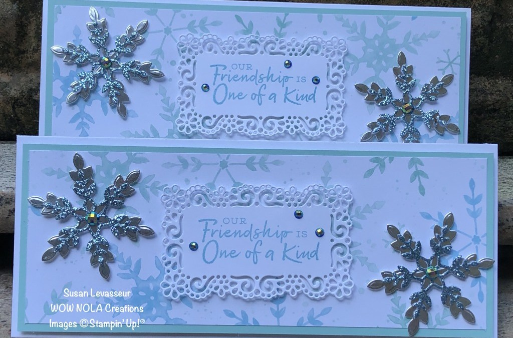Slimline Card with Snowflake Wishes
