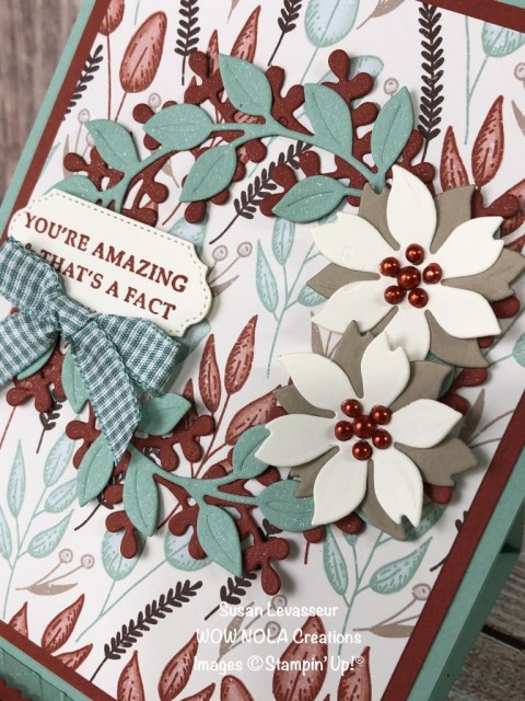 Autumn Easel Thank You, Susan Levasseur, WOW NOLA Creations, Stampin' Up!