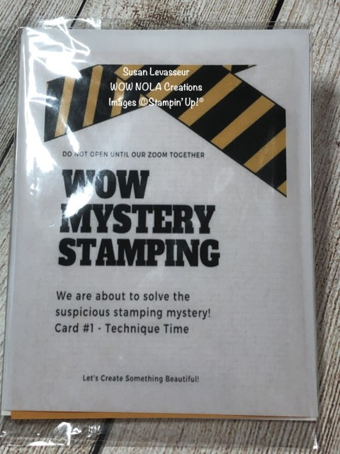 WOW Mystery Stamping, Susan Levasseur, WOW NOLA Creations, Stampin' Up!