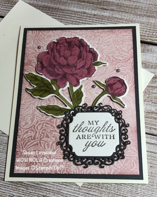 Wax Paper Resist Technique, Prized Peony, Susan Levasseur, WOW NOLA Creations, Stampin' Up!