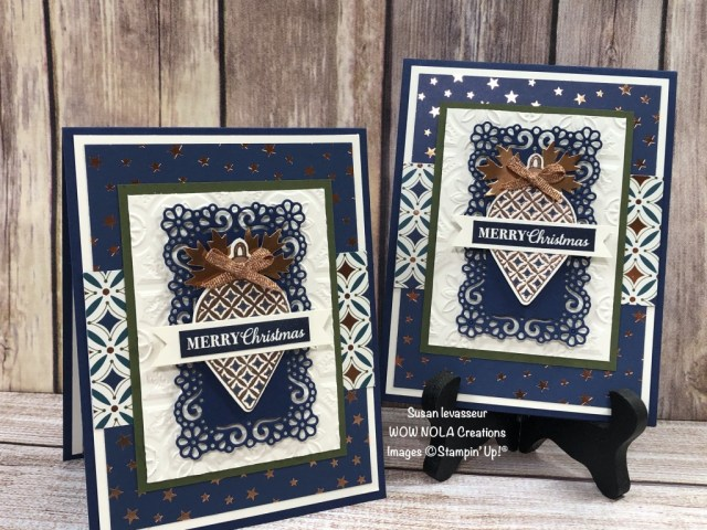 Christmas Gleaming, Susan Levasseur, WOW NOLA Creations, Stampin' Up!