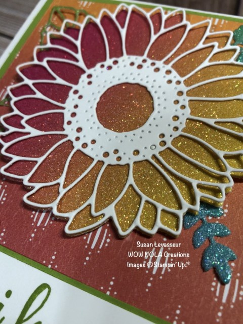 Rainbow Glimmer with Ridiculously Awesome, Susan Levasseur, WOW NOLA Creations, Stampin' Up!