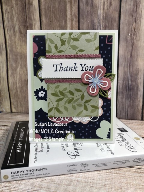 Happy Thoughts, Susan Levasseur, WOW NOLA Creations, Stampin' Up!