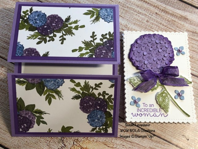 Slide & Lock Gatefold, Hydrangea Haven, Susan Levasseur, WOW NOLA Creations, Stampin' Up!
