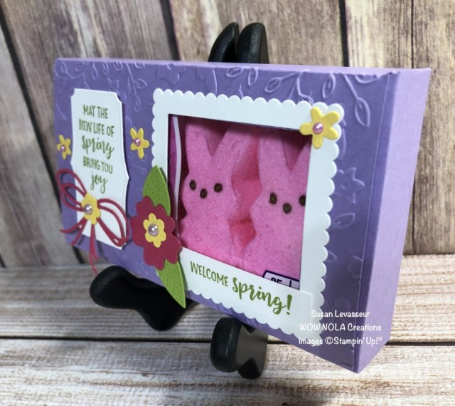 Peeps Easter Treat Holder, Susan Levasseur, WOW NOLA Creations, Stampin' Up!