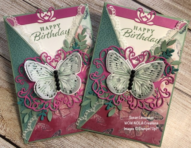 Criss Cross Fancy Fold, Susan Levasseur, WOW NOLA Creations, Stampin' Up!