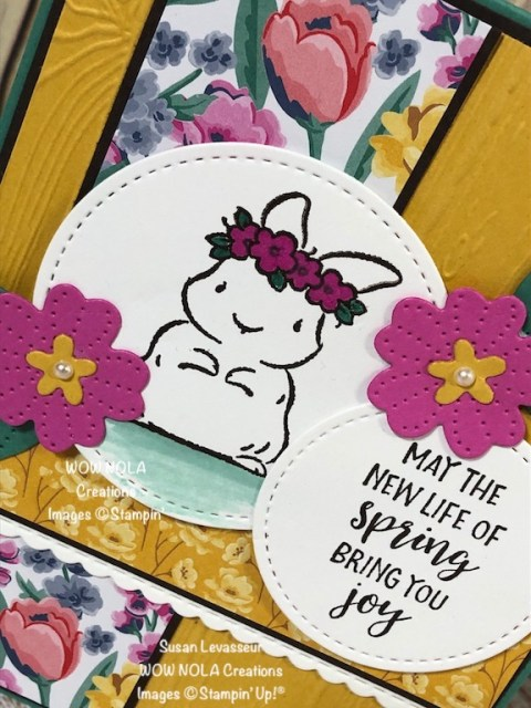 Bright and Happy Easter Card, Susan Levasseur, WOW NOLA Creations, Stampin' Up!