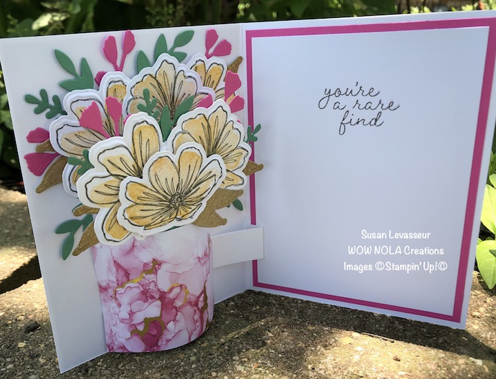 Pop-Up Vase Card with Art in Bloom